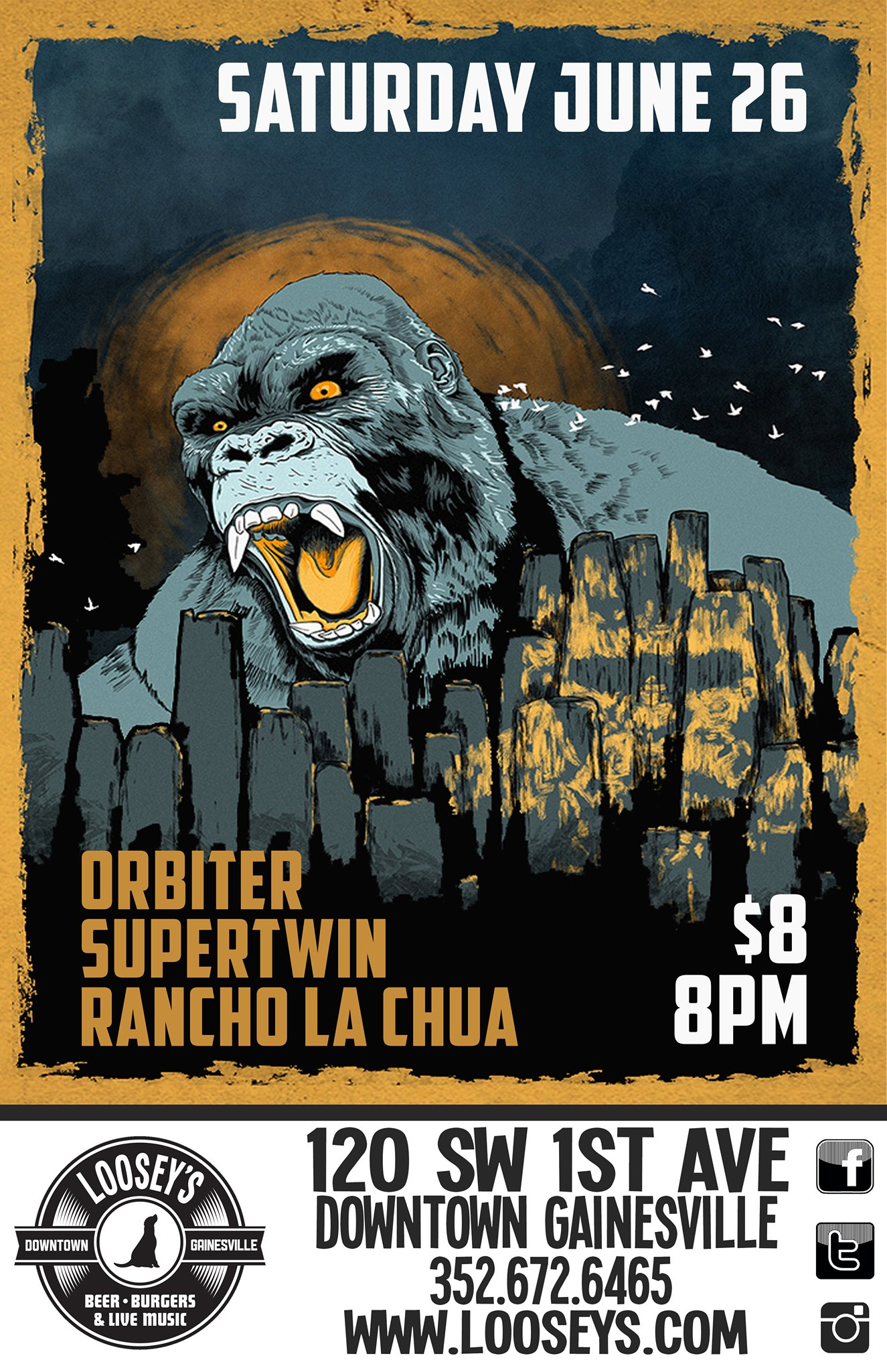 June 26, 2021 Supertwin, Orbiter, and Rancho La Chua Show Poster